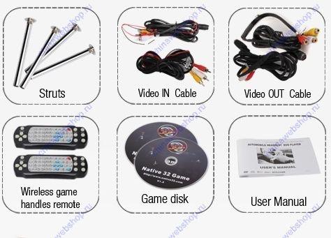 9 дюймовый ЖК монитор-подголовник сиденья автомобиля со встроенным DVD ,FM-приемником, USB-портом и SD картридером (1 пара) 00198039