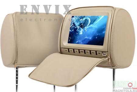 Большой экран размером 9 дюймов, встроенный DVD плеер в каждом подголовнике, наличие USB и SD входов в сочетании с невысокой ценой делают модель ENVIX L0236 одним из лидеров по соотношению цены и качества