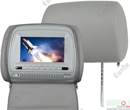Комплект подголовников L0267 отличается превосходным качеством материалов и отличной комплектацией. Эта модель оборудована цифровым 7-ми дюймовым дисплеем с разрешением 800*480 пикселей. Дополнительно Вы можете настроить яркость, контрастность и цвет изображения в соответствии со своими предпочтениями. Выгодной особенностью комплекта подголовников L0267 является уже встроенный DVD плеер, способный воспроизводить все популярные форматы. Кроме того, подголовники оснащены слотом для SD-карт и USB-портом, что делает модель еще более универсальной.