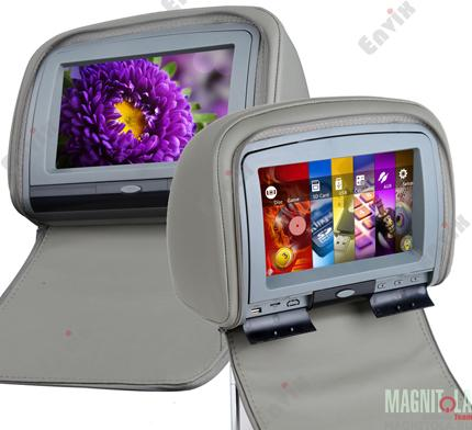 Подголовники с мониторами и DVD - это современные устройства, которые помогут превратить любой автомобиль в настоящий центр развлечений. Модель Envix L0282 оборудована большим 9-ти дюймовым сенсорным экраном с разрешением 800*480 пикселей.