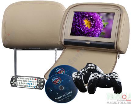 Подголовники с мониторами и DVD - это современные устройства, которые помогут превратить любой автомобиль в настоящий центр развлечений. Модель Envix L0283 оборудована большим 9-ти дюймовым сенсорным экраном