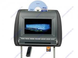 установка подголовников с DVD в nissan teana